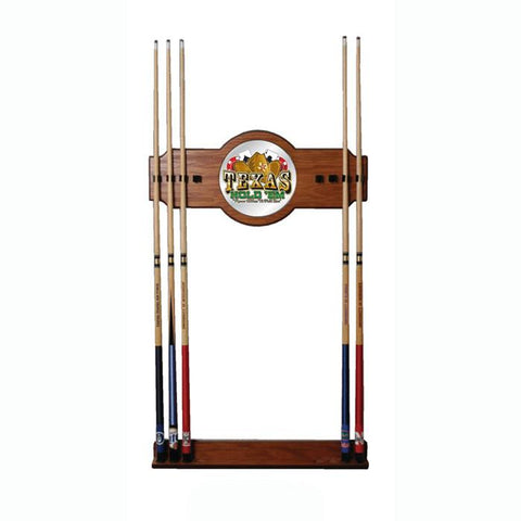 Trademark Commerce TXH6000 Texas Hold 'em 2 piece Wood and Mirror Wall Cue Rack - Peazz.com