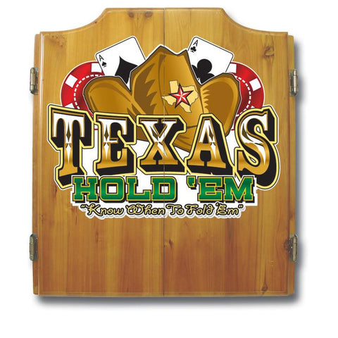 Trademark Commerce TXH7000 Texas Hold'em Dart Cabinet includes Darts and Board - Peazz.com