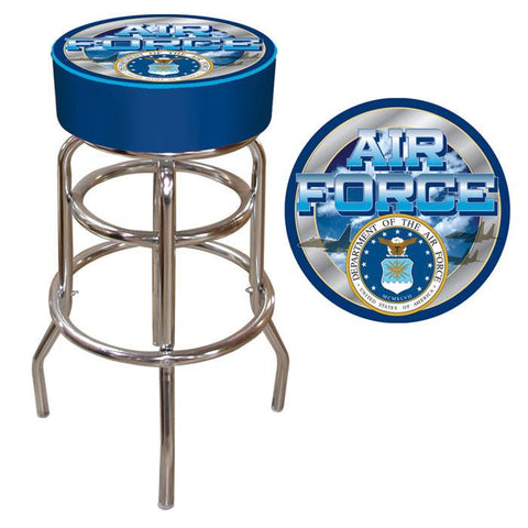 Trademark Commerce USAF1000 US Air Force Padded Bar Stool - Peazz.com