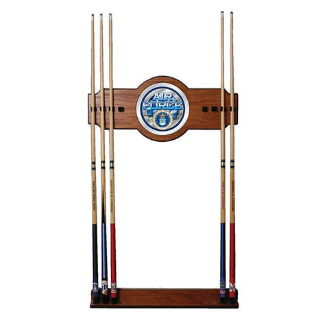 Trademark Commerce USAF6000 U.S. Air Force 2 piece Wood and Mirror Wall Cue Rack - Peazz.com
