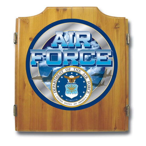 Trademark Commerce USAF7000 US Air Force Dart Cabinet includes Darts and Board - Peazz.com