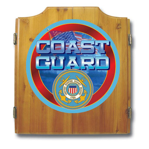 Trademark Commerce USCG7000 US Coast Guard Cabinet includes Darts and Board - Peazz.com