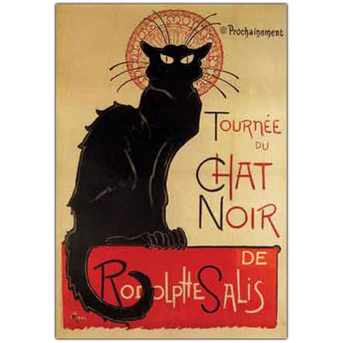 Tournee du Chat Noir by Theophile A. Steinlen-Framed 24x32 - Peazz.com