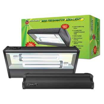 Coralife Mini Freshwater Aqualight Compact Fluorescent Fixture, 2X9W, 9 inch (53122) - Peazz.com