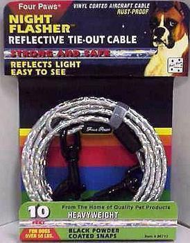 10ft Cable Tieout Night Flasher