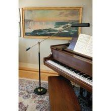 House of Troy PFL-617 Black Piano Floor withPolished Brass - Peazz.com