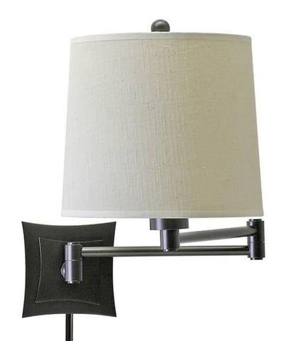 House of Troy WS752-OB Wall Swing Oil Rubbed Bronze w/Linen Hardback Shade - Peazz.com