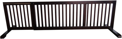 "MDOG2 Free Standing Pet Gate - 53""-103""L x 20""H x 21.6""D - Dark Walnut - Peazz.com"