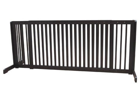 "Free Standing Pet Gate - 57""-103""L x 27""H x 21.6""D - Dark Walnut (MK81722-WA) - Peazz.com"