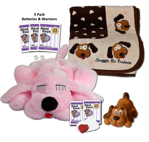 SnugglePuppie Pink Puppy Starter Kit - Peazz.com