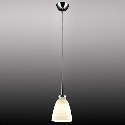 Bromi Design B3002S Belmont White Stripe Glass Mini Pendant - Peazz.com
