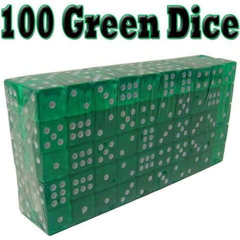 Brybelly ACC-0012 100 Green Dice - 19 mm - Peazz.com