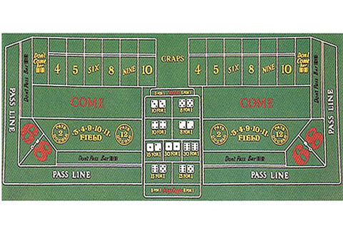 Brybelly ACC-0046 Craps Table Felt 72x36 - Peazz.com