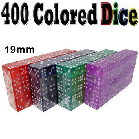 Brybelly ACC-0049 400 Dice - 19mm - Red, Blue, Green, Purple - Peazz.com