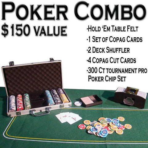 Brybelly ACP-0047 Texas Hold 'Em Poker Combo Pack - Peazz.com