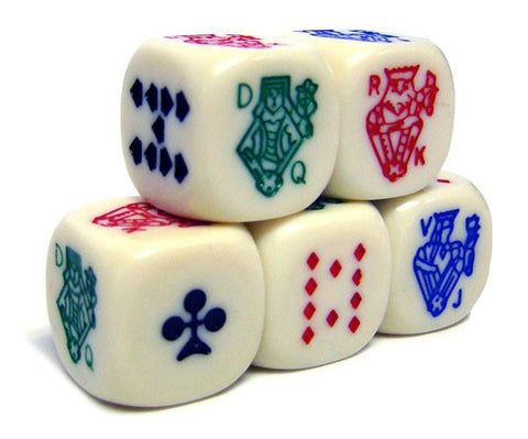 Brybelly ACP-0063 Poker Dice Pack - 25 Dice - Peazz.com