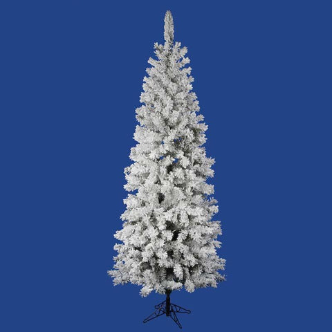 "Vickerman A100365 6.5' x 32"" Flocked Pacific Tree 306T - Peazz.com"