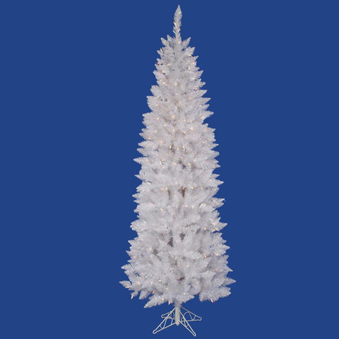 10' Vickerman A104086 Sparkle White Spurce - Sparkle White Christmas Tree - Peazz.com