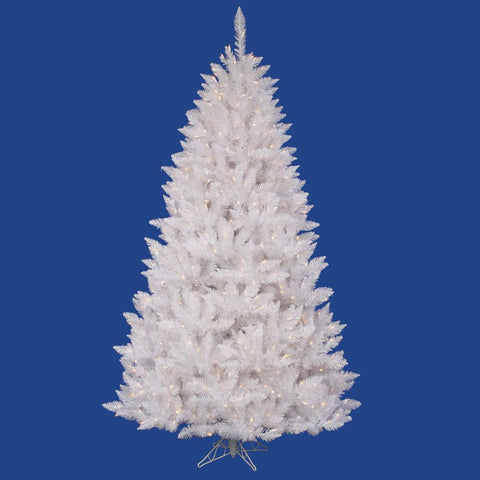 5.5' Vickerman A104156 Sparkle White Spurce - Sparkle White Christmas Tree - Peazz.com
