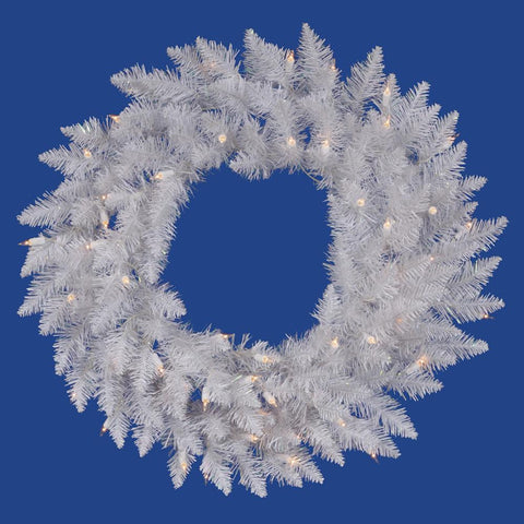 5' Vickerman A104261LED Sparkle White Spurce - Sparkle White - Peazz.com