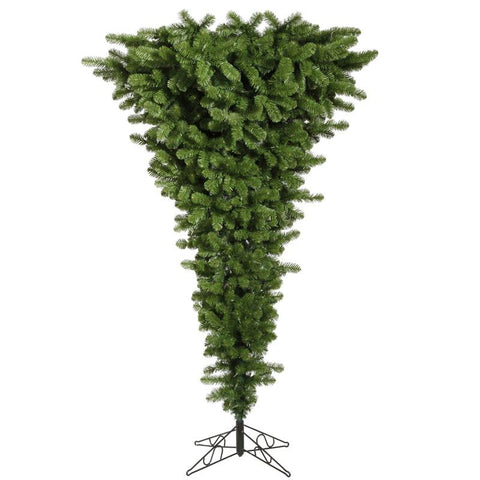 "Vickerman A107455 5.5' x 38"" Green Upside Down Tree 519T - Peazz.com"