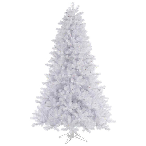 "Vickerman A135775 7.5' x 55"" Crystal White Pine Tree 1881T - Peazz.com"