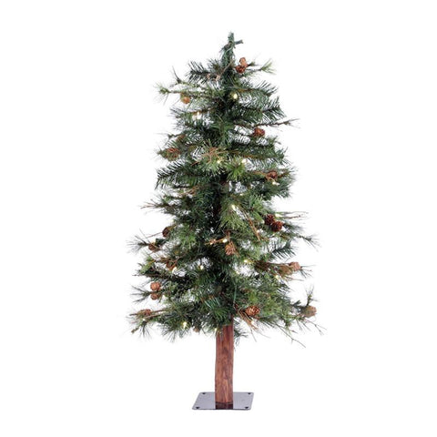 "Vickerman A801931LED 3' x 24"" Mix Country Tree 50WmWht LED - Peazz.com"