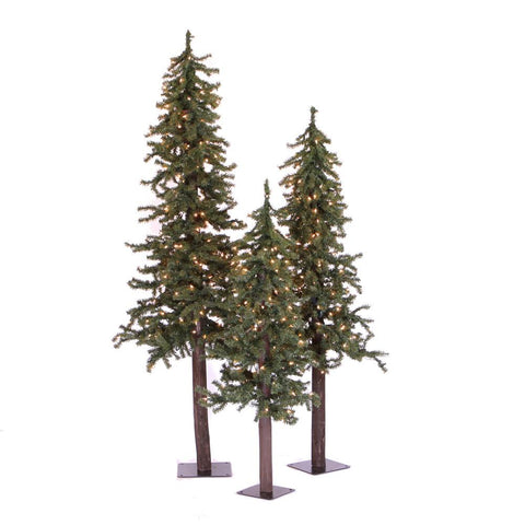 4' Vickerman A805181 Natural Alpine - Green Christmas Tree - Peazz.com