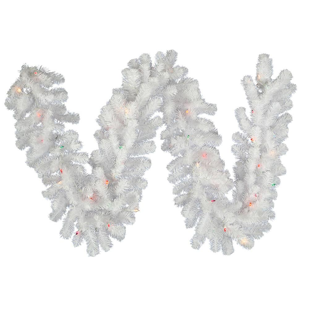 1 Vickerman A805814 Crystal White Garlands Wreaths Crystal White