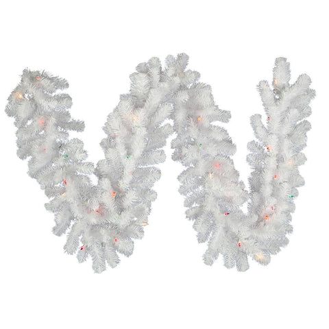 1' Vickerman A805814 Crystal White Garlands & Wreaths - Crystal White - Peazz.com