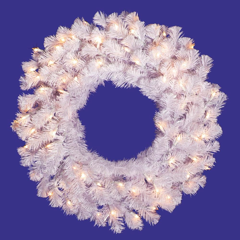 25 Vickerman A805831 Crystal White Garlands Wreaths Crystal White