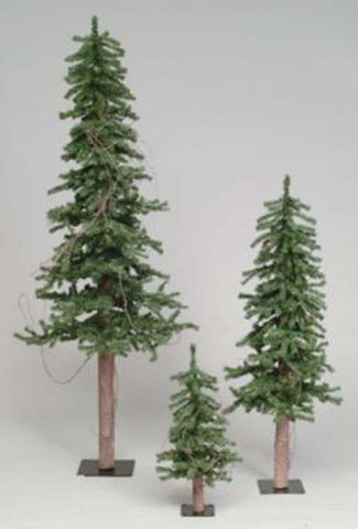 "Vickerman A807240 4' x 25"" Alpine Tree w/Pine Cones 351T - Peazz.com"