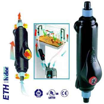 "Hydor USA Inc. Eth201 200 Watt External In - line Heater For 5/8"" Hose HY00018 - Peazz.com"