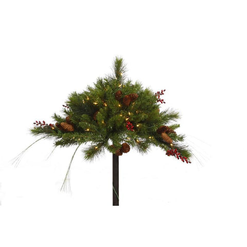 "Vickerman G121346 16""x36"" Mixed Berry Cone UrnFiller 100CL - Peazz.com"