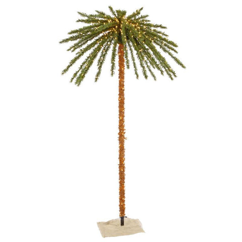 Vickerman K129171 7' Outdoor UV Palm Tree 500CL 73T - Peazz.com