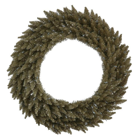 "Vickerman K136460 60"" Antique Champagne Fir Wreath  760T - Peazz.com"