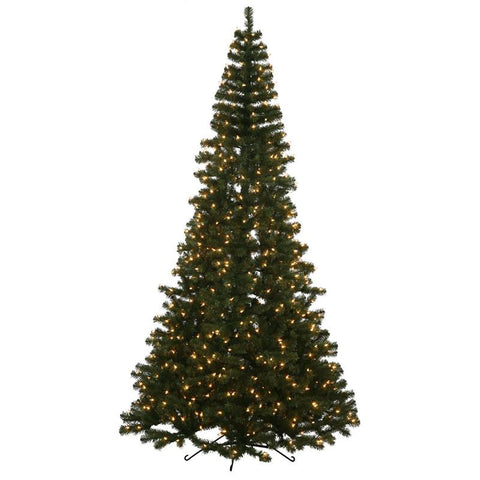 "Vickerman K137276 7.5' x 49"" Green Half Tree 1179T 600CL - Peazz.com"