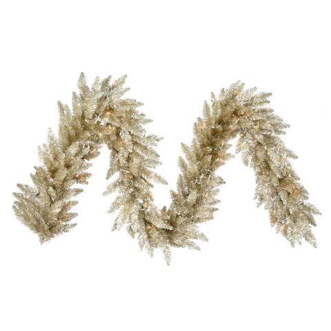 1.2' Vickerman K884315 Champagne Ashley Spruce - Champagne - Peazz.com