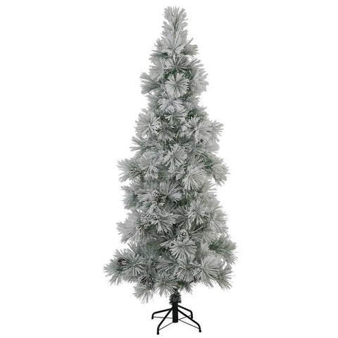 "Vickerman N132570 7' x 37"" Flocked Stone Pine Tree 156T - Peazz.com"