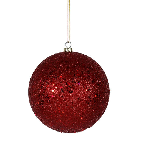 1' Vickerman N593003Q Sequin Ball - Red - Peazz.com