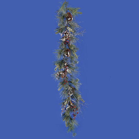0.8' Vickerman S103210 Iced White Pine - Green - Peazz.com