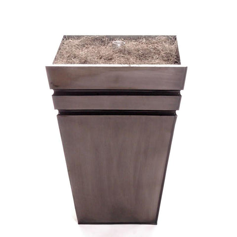 Vickerman T130007 Striped Grey Metal Tree Stand  Lg - Peazz.com