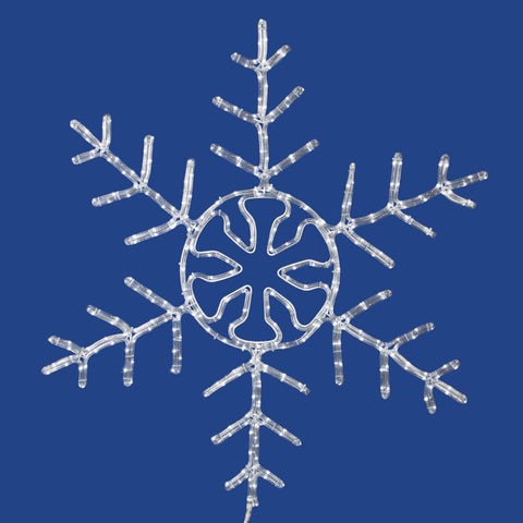 5' Vickerman X106260 Snowflake - Pure White - Peazz.com