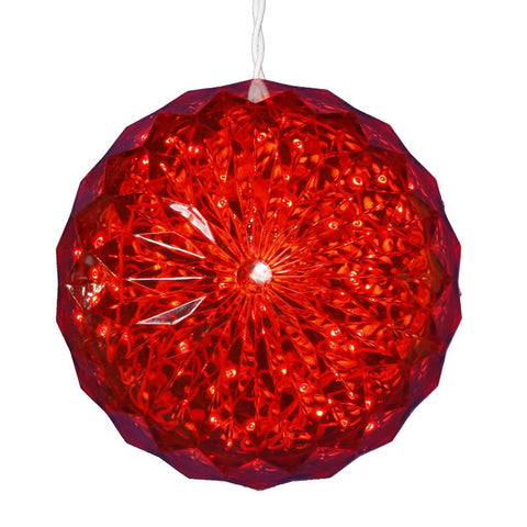"Vickerman X106603 30 Light x 6"" LED Red Crystal Ball Outdoor - Peazz.com"