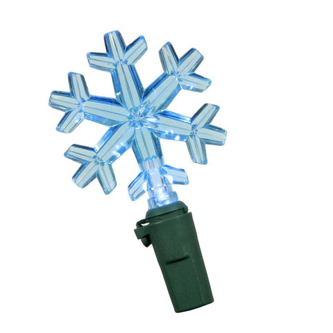 "Vickerman X6G5012 50 Light LED Blue Snowflake Ec Set/Gw 6""Sp 2 - Peazz.com"