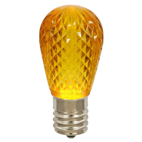 Vickerman XLEDS17 11S14 Faceted LED Yellow Lamp E26.96 - Peazz.com