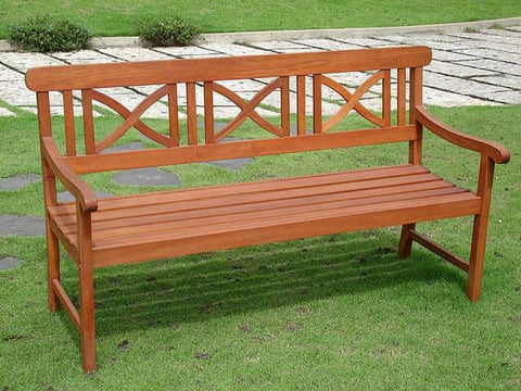 Vifah V100 Outdoor Wood Bench - Peazz.com