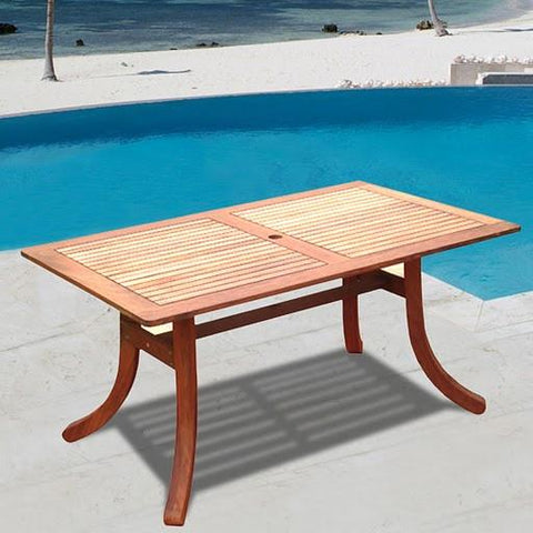Vifah V189 Atlantic Rectangular Table - Peazz.com
