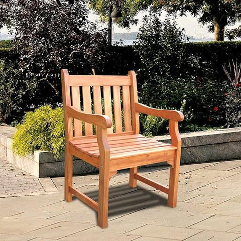 Vifah V209 Outdoor Wood Armchair - Peazz.com