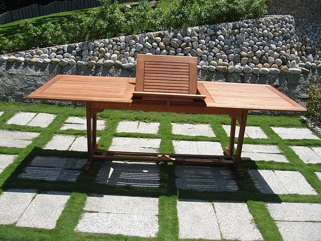 Wood Rectangular Extension Table Outdoor